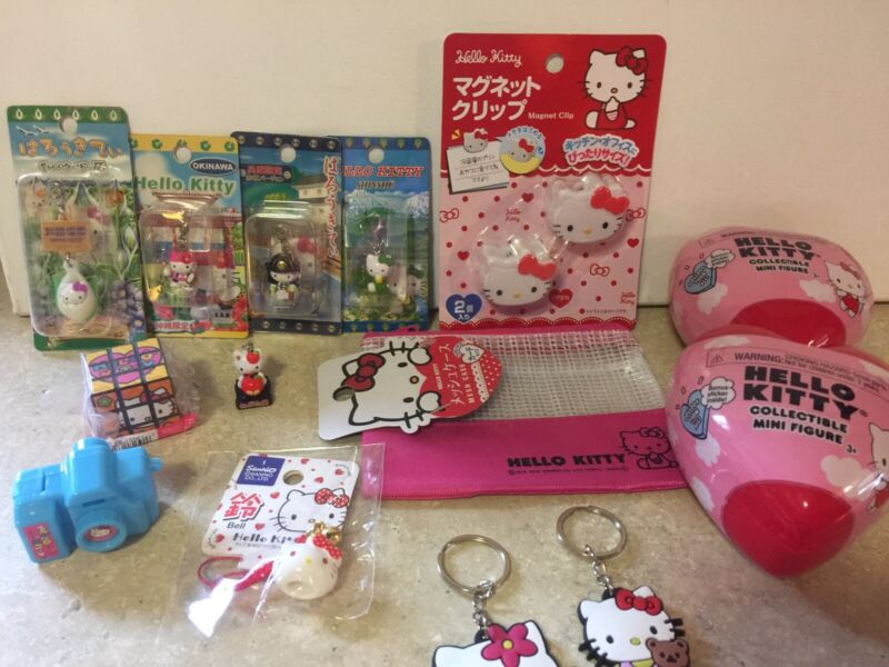 Hello Kitty Mini Collection All NEW Lot Of 14 Items
