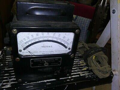 Vintage Weston Electrical Instrument Corp. Ac Voltmeter Zero Corrector Meter