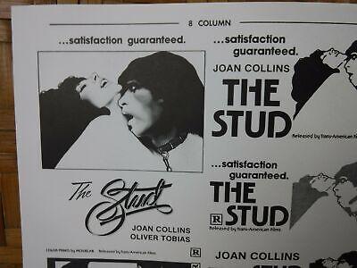 THE STUD Movie Mini Ad Sheet VTG Advertising Poster Clip Art Film Joan Collins