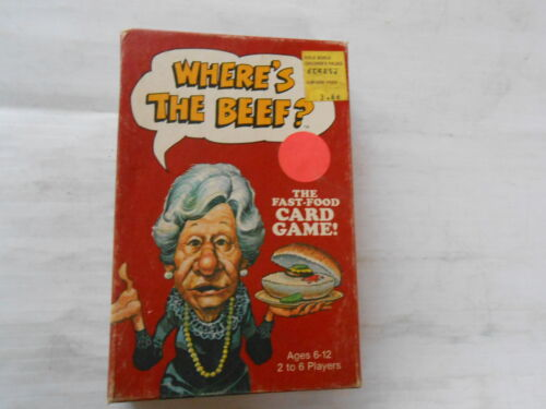 Wheres the Beef MB Card Game 1984 Wendys NOS