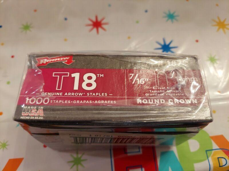 "New Genuine Arrow T18 Staples, 7/16"" 5000 Staples!! Free Shipping!!"