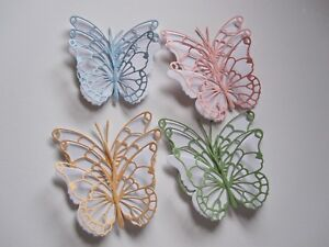 12 MEDIUM 3D DIE CUT BUTTERFLY TOPPERS COLOURS AS PICTURE  WEDDING /BIRTHDAY