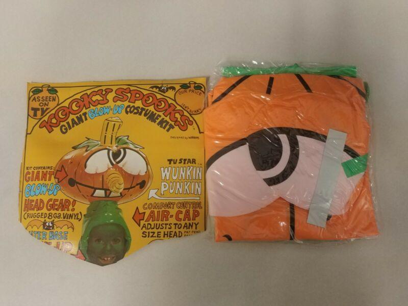 Vintage Kooky Spooks Costume! WUNKIN PUNKIN ! Giant Blow-Up Costume Kit! NICE!