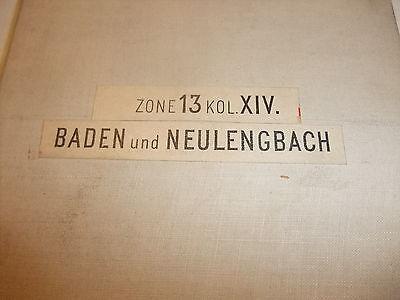 historische Landkarte Karte Baden Neulengbach Zone 13 Col. XIV Österreich Leinen