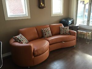 Beautiful Orange Sofa Set