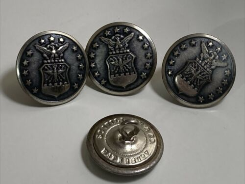 "Vintage 7/8"" Waterbury SCOVILL MF'G CO. US Air Force Uniform Buttons"