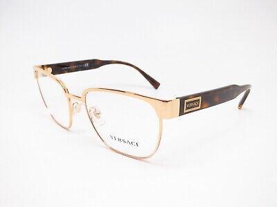 New Authentic Versace VE 1264 1460 Gold Eyeglasses 54mm Rx-able