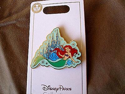 Disney * PRINCESS ARIEL & SPARKLE CASTLE * New on Card Trading Pin