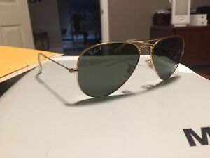 Polarized Authentic Aviator Ray Bans with Case
