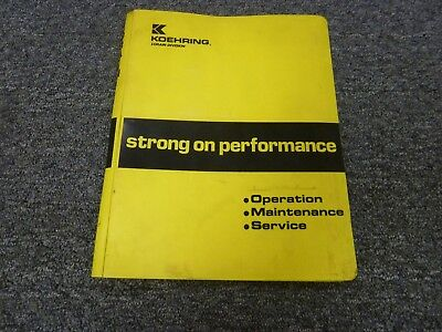 Koehring Lorain Mc790 Crane Boom And Pendant Parts Catalog Manual