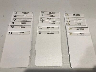(CUSTOM MAGIC THE GATHERING LABELS / CARD DIVIDERS FOR ANY SET! COLORED SYMBOLS)