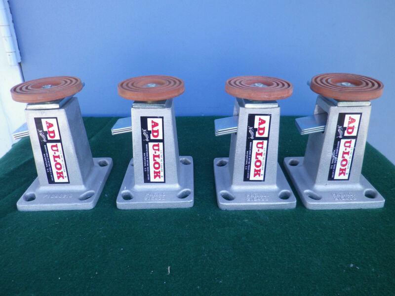 Lot of 4 Nutting AD U-LOK Adjustible Floor Lock