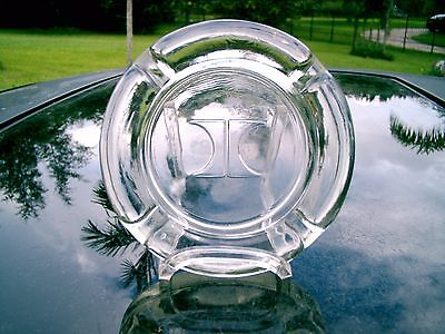 Hilton Hotels  Ashtray Clearance Collectible  Heavy Clear Glass Vintage  4 5