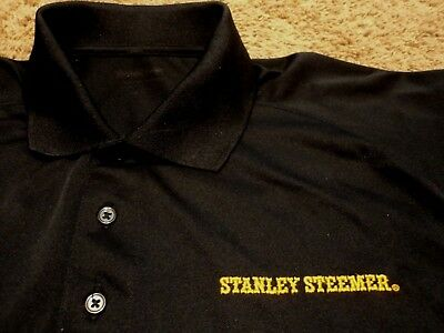 Men's ~ STANLEY STEEMER ~ Carpet Cleaning Tech Uniform Polo Golf Shirt XL