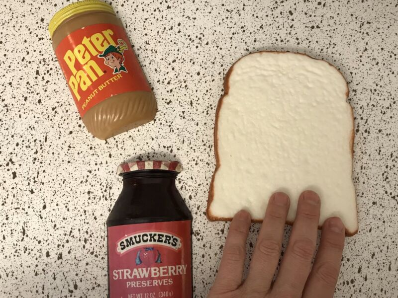 ❤️Vintage Life-size Retro Peanut Butter Jelly Magnets Advertising Toast Bread