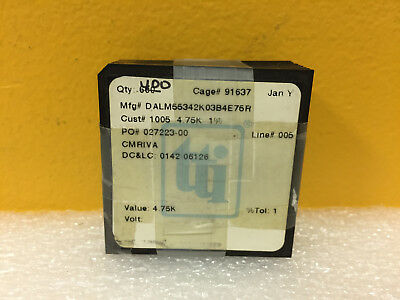 Vishay M55342k03b4e75 Lot Of 400 4.75 Kohm Smd Thick Film Resistors. New