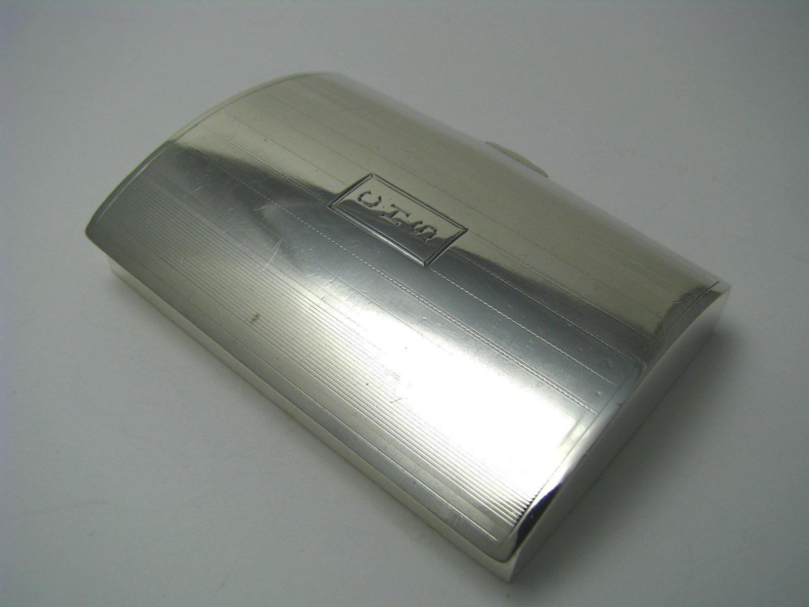 STERLING SILVER SNUFFBOX SNUFF PILL BOX International / Watrous Ca1930s Mono CHS - $275.00