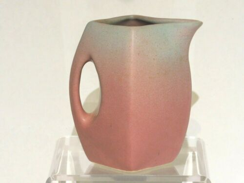 Niloak Pottery, 5 Inch Square Pitcher, Ozark Dawn Glaze, Excellent Condition