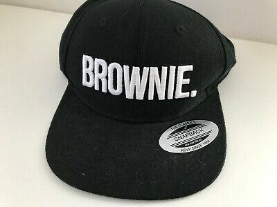 ASVP SHOP Herren Baseball Snapback Cap schwarz bestickt BROWNIE #GUN