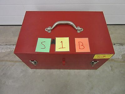 Cms Tool Box Chest Military Machinist Mechanic Lock Kit Metal Shop Tray Used B