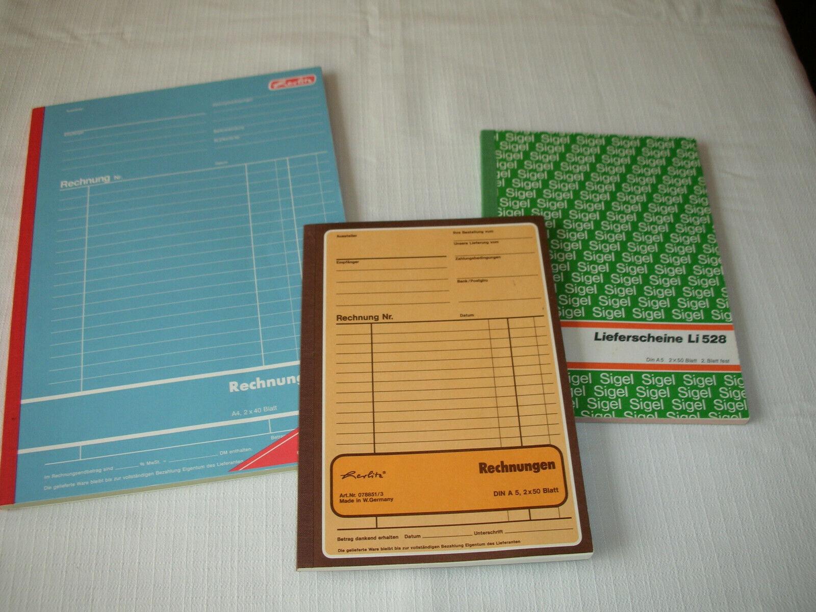 Rechnungsformulare Herlitz, 2 x RG, 1 x LS