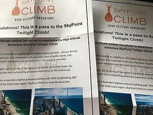 Skypoint Twilight Climb voucher x 2 Springfield Ipswich City Preview