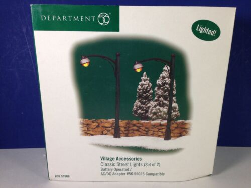 Dept 56 Heritage Village CLASSIC STREET LIGHTS Set of 2 56.53506 Brand New!