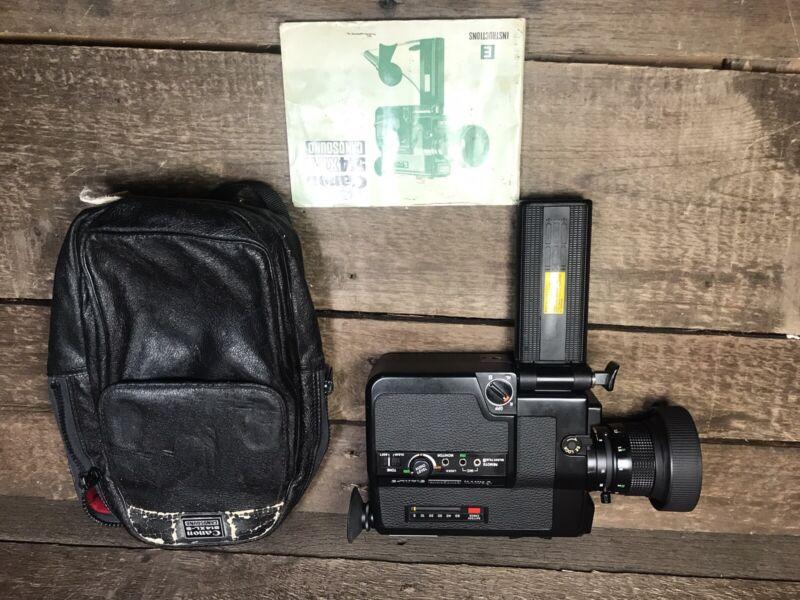 Canon 514XL-S Canosound Super 8 Movie Camera With Original Bag and Manual