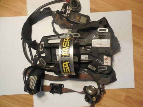 MSA AIR Pack Pak HARNESS FIREFIGHTER SCBA SELF CONTAINED BREATHING 2216 PSI