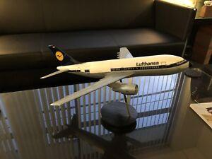 Vintage Airbus A310 plane travel agency display.