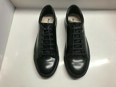 ACNE STUDIOS Black Patent Leather Shoes Sneakers MENS Size 43 EUR 9 US Designer