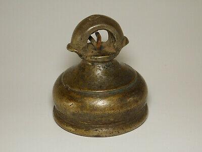 Antique Bronze Elephant Bell Asian Tribal Sculpture Patina Hill Tribe Vietnam