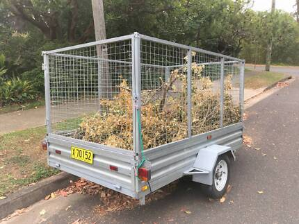 Galvanised Trailer with fixed cage