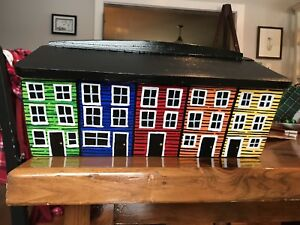 Locally crafted Jelly bean row house mail box