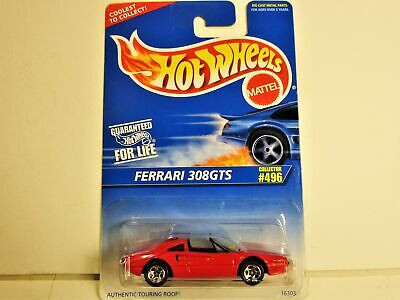 HOT WHEELS FERRARI 308GTS RED W/BLACK INTERIOR NEW IN 1996 PACKAGE NICE CAR