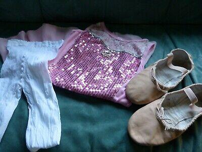 BLOCH Ballettschuhe ,Leder,Größe 5,0 C Arise .ganze Sohle, Kleid u..Strumpfhose, ()