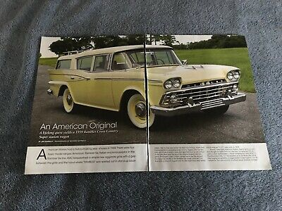 1959 Rambler Custom Cross Country Promotional Advertising Poster