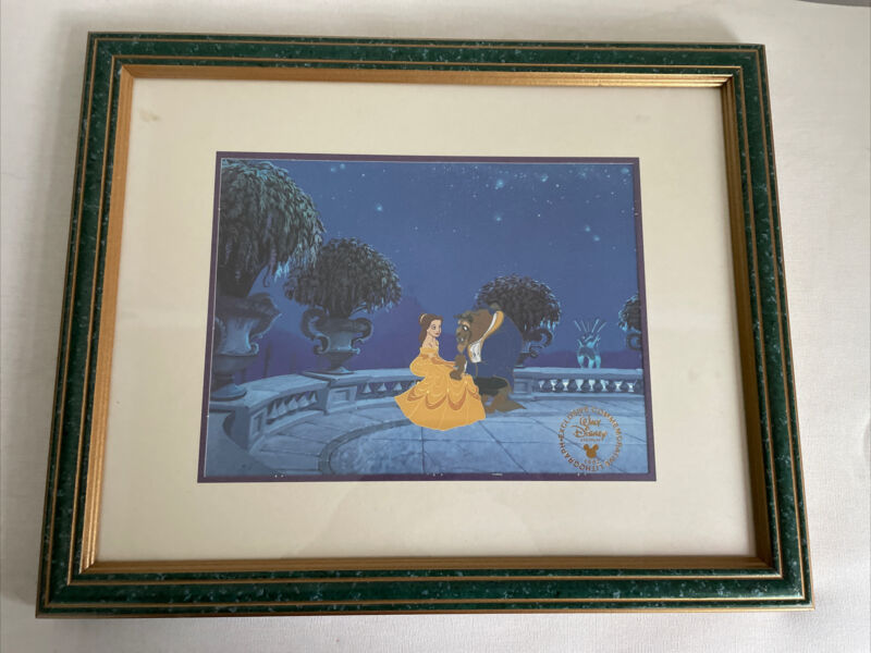 "Walt Disney Beauty & The Beast Exclusive Commemorative Lithograph 1992 11"" x 14"""