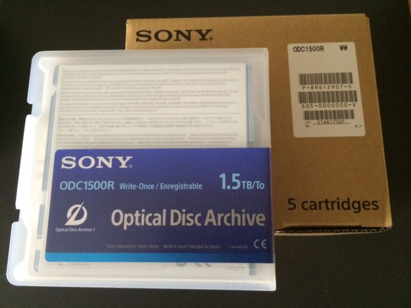 SONY ODC1500R OPTICAL DISC ARCHIVE 1.5TB WRITE ONCE BD CARTRIDGE