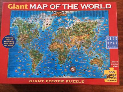 World map puzzle mounted on mdf board toys indoor gumtree giant map of the world 300 piece jigsaw puzzle gumiabroncs Images