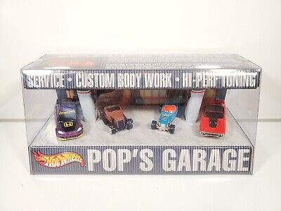 Hot Wheels POPS GARAGE 4 CAR SET - CIVIC / GTX / DUECE / HOOLIGAN - NEW NIB