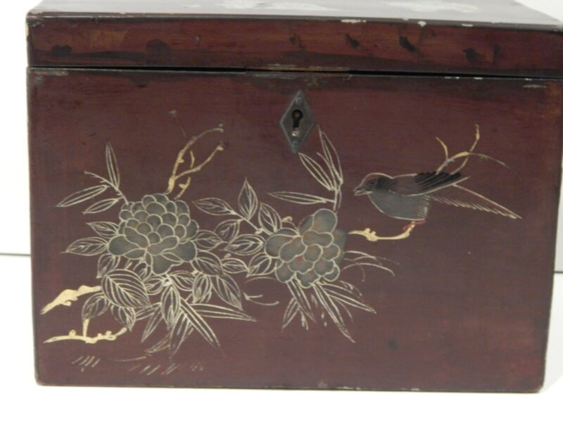 Antique Oriental wood box