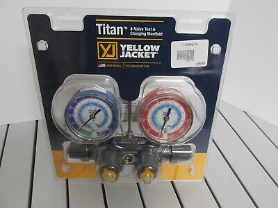 Yellow Jacket 49983 Hvac Tools Titan 4-valve Test Charging Manifold New Usa