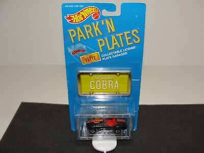 Hot Wheels Park 'N Plates Classic Cobra - new in pkg / bad card condition