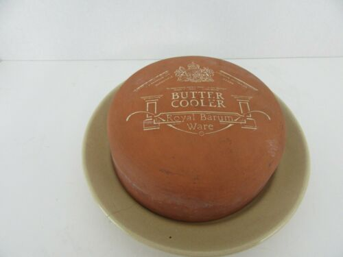 Royal Barum Ware Butter Cooler Pottery Makers to Her Majesty Queen Elizabeth