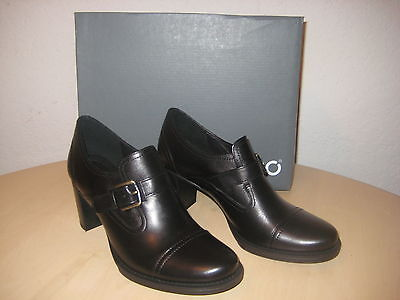 ECCO Shoes 10 to 10.5 M Womens New Saunter 65 Slip On Black Leather Heels EUR 41 65 Womens Heels Shoes