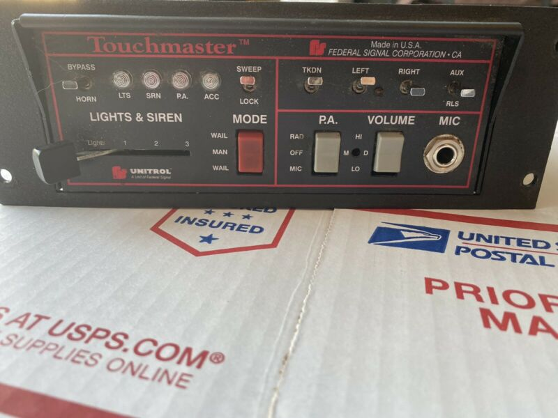 Federal Signal Unitrol Touchmaster Excellent Condition Plenty Of Wire