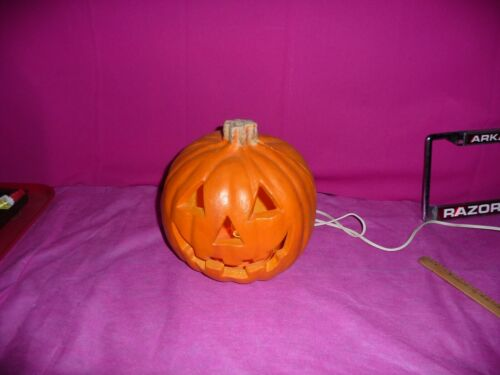 1998 The Paper Magic Group Lighted Halloween Jack-O-Lantern Hard Plastic vtg nos