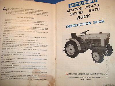 Mitsubishi Tractors Mt470d Mt470 S470d S470 Buck Instruction Book 1980 67