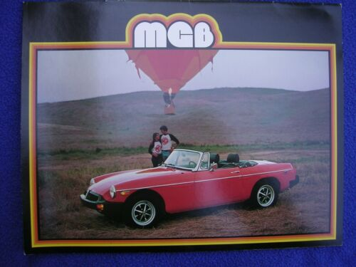 1979 MGB Dealership Brochure or Catalog Car Automobile Ads